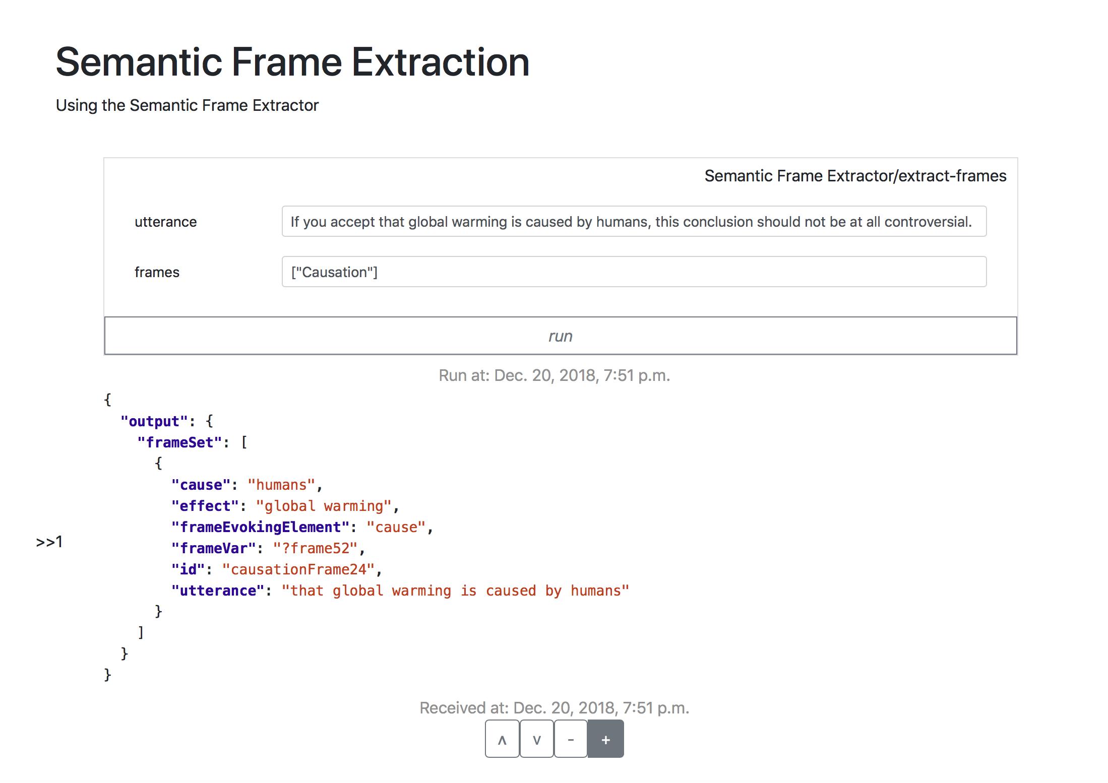 Semantic Frame Extractor online – The Penelope Platform